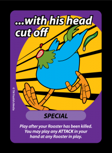 With His Head Cut Off, a Special Type Card from Oh Cluck! Foolish Media's debut party game
