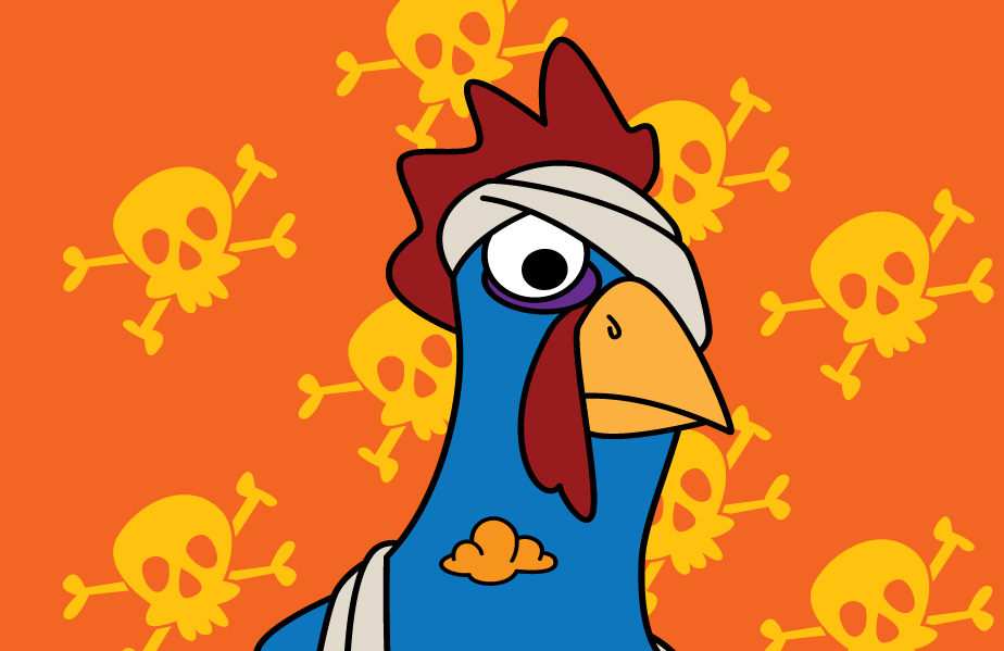 Salmonella, A rooster from the Party Game Oh Cluck!