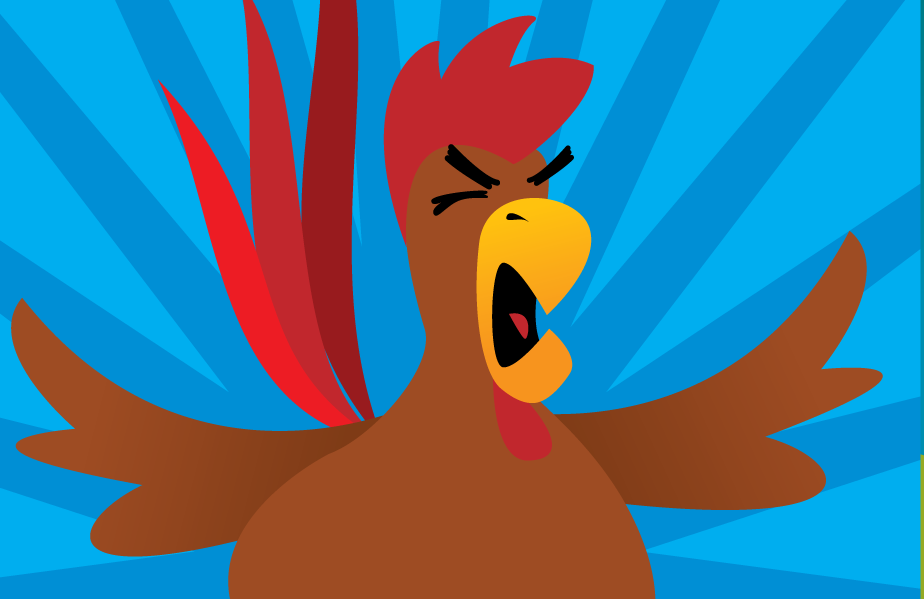 Meet Hawk, The youngest of the competitors in the barnyard brawl that is Oh Cluck!