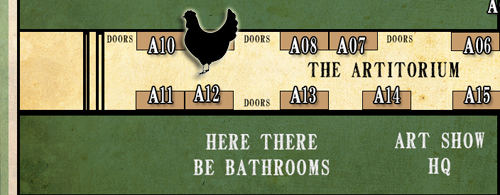 Artitorium A09, home of the Roosters from Oh Cluck!