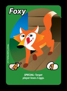 "Foxy is one of the most interesting ""Roosters"" you'll find in Oh Cluck! The debut party card game from Foolish Media LLC!"