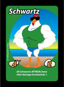 "Schwartz will help ""pump you up"" with his increased attack damage"