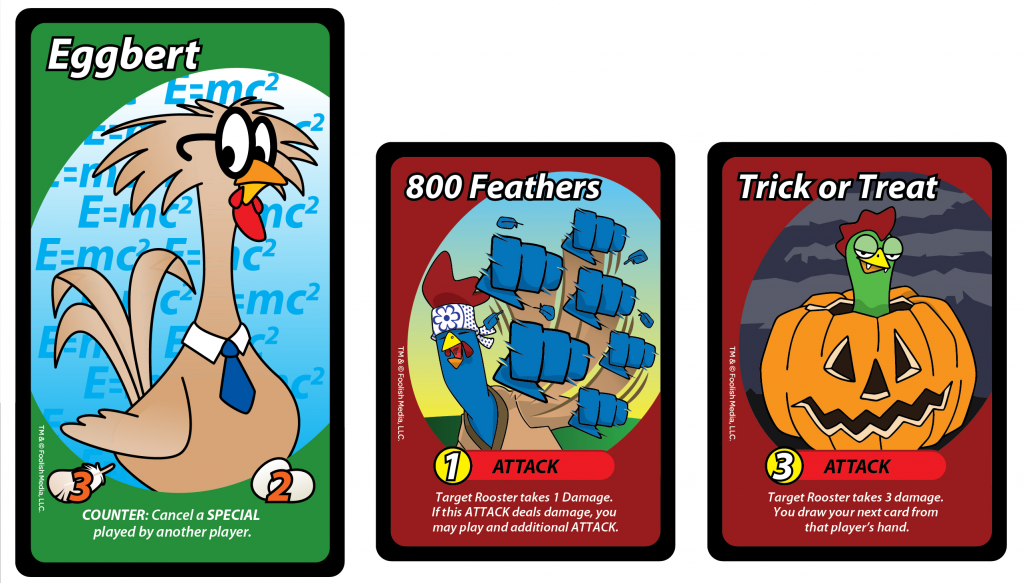 Eggbert sporting his Tarot Size, and 2 new cards from Eggspansion