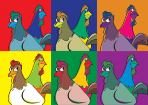 """Warhol"" Style Oh Cluck Proof"