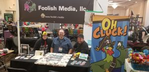 The Foolish Media Booth, Open and ready for business.