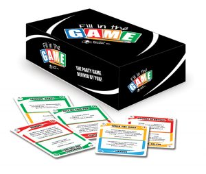 Current packaging and Cards for Fill in the Game