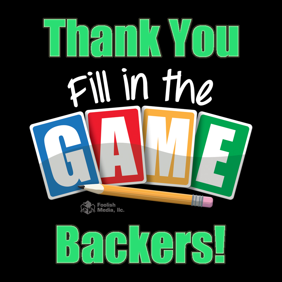 Thank you to all of our backers!