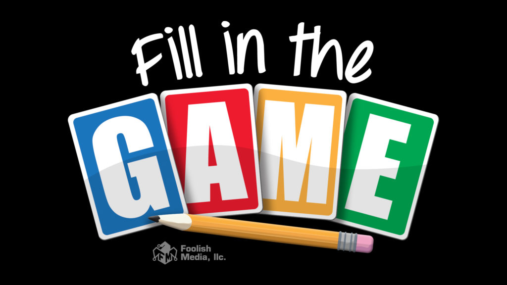 Fill in the Game is now in stock, and ready to ship!